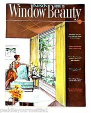 Vintage KIRSCH Guide to Window Beauty 1961 SC Curtains Drapes Window Coverings