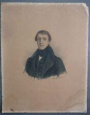 Jean Antoine Petit Senn. Ecrivain SUISSE. Portrait lithographie. 1837.