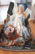 Direct Thy Paths Guardian Angel Tapestry Afghan Throw