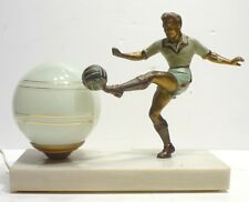 Rare LAMPE Art Déco Footballeur Football Foot