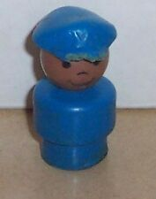 Vintage 80's Fisher Price Little People Blue Police Man Rare HTF AA