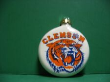 3 INCH CLEMSON TIGER  CERAMIC CHRISTMAS TREE  ORNAMENT...MADE IN USA