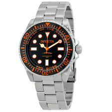 Invicta Pro Diver Black Dial Stainless Steel Mens Stainless Steel Watch 20120