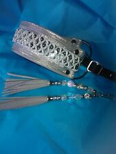 Designer Dog Collar .Silver .Martingale .Leather. Borzoi.Whippet.Lurcher.Terrier