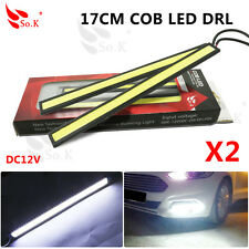 Waterproof 17cm COB White Car LED Lights 12V for DRL Fog Light Driving lamp X 2
