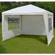 10'x10' EZ POP-UP Party Wedding Tent Folding Gazebo Beach Canopy W/ 4 Sides/ Bag