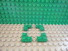 Lego 4 Green 2x2 corner plate base NEW