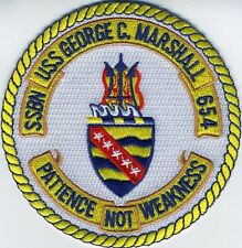 USS George C Marshall SSBN 654 - Crest - Submarine Patch - BC Patch Cat No. b610