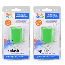 2pack Tech & Go portable speaker for MP3 music player ipod touch nano iPhone 6 7