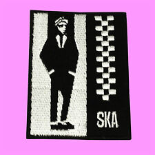 Ska Reggae Two Tone Punk Rock Music Skinhead Rude Man Embroidered Iron On Patch