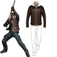 Resident Evil 4 Leon Kennedy Men's PU Leather Jacket Custom Made