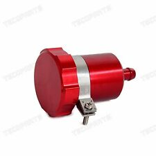Red CNC Rear Brake Fluid Reservoir Tank Oil Cup Clutch Master Cylinder Universal