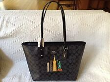 NWT. Coach Signature Limited Edition NY City Skyline City Zip Tote Bag F57616