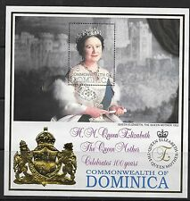 DOMINICA SGMS2670 1999 100th BIRTHDAY OF QUEEN MOTHER  MNH