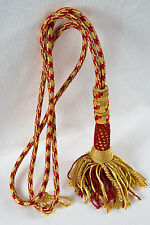 """NEW 32"""" Bishop Tassel Pectoral Cord RED/GOLD, Clergy Vestment"""