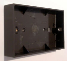 Period Bakelite Style 2 Gang Wall Box or Pattress