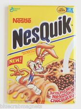 Nesquick Cereal Box FRIDGE MAGNET (2 x 3 inches) nestle quik chocolate syrup