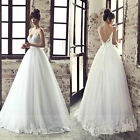 2016 New White / Ivory Wedding Dress Bridal Gown Custom Size 6 8 10 12 14 16+++