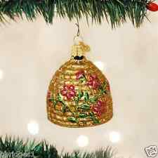 *Bee Skep* Hive Honey [12391] Old World Christmas Glass Ornament - NEW