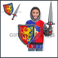 MEDIEVAL INFLATABLE SWORD & SHIELD SET KIDS COSTUME PLAY BOOK WEEK ACCESSORY