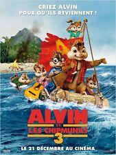 Affiche 120x160cm ALVIN ET LES CHIPMUNKS 3 (2011) Mike Mitchel  TB