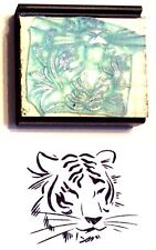 Tiger Face rubber stamp by Amazing Arts beautiful!
