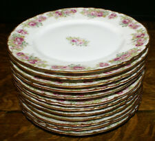 """12 Elite Works Limoges Bawo Dotter Lunch Plates 8.75"""" * Higgins and Seiter NYC"""