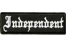 LOT OF 2 - INDEPENDENT EMBROIDERED BIKER PATCH