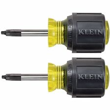 Klein Tools 85155 2-Piece Stubby Square-Recess Tip Cushion-Grip Screwdriver Set