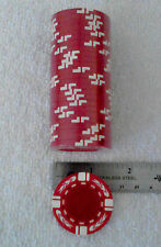 Blank Poker/Casino chips, 25 pk roll, RED, white stripe w/Flames FREE SHIPPING
