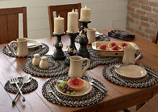 PLACEMAT - KENDRICK  BRAIDED BY PARK DESIGNS - KITCHEN/DINING BLACK GRAY TAN