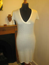 SEVEN 7 T-SHIRT DRESS 10-12 New Los Angeles white gold