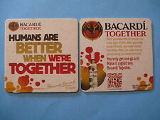 "Beer COASTER  Facundo BACARDI Rum & Coke ""Humans Are Better When We're Together"""