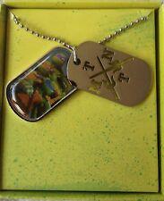 """Teenage Mutant Ninja Turtles Child's 16"""" Necklace Dog Tag TMNT Jewelry"""