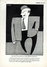 "ORIGINAL ADVT FROM THE NEW YORKER MAGAZINE DATED 26.2.1927 ""THE IRATE MR ERROL"""