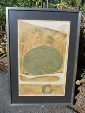 EXCEPTIONAL MODERNIST ABSTRACT 1968 SIGND CHINESE HONG KONG PAINTING MID CENTURY