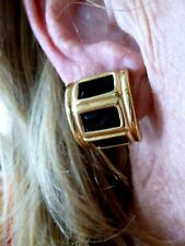 Authentic Vintage Gold Tone Givenchy Clip Earrings