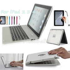 With Power Bank Black Wireless Bluetooth Keyboard Case Cover For iPad 4 3 2 Gen