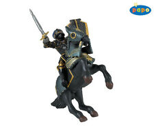 Knight With A Black Armor Suit And Horse, PAPO Knights And Castles 39275 + 39276