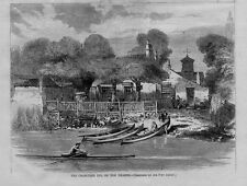 ROWING SCULLING 1869 CRAB TREE INN ON THE THAMES RESORT FOR BOATING MEN GIN RUM