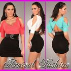 NEW SEXY WOMENS PARTY WEAR DRESS 6 8 10 LADIES EVENING FORMAL FASHION + BELT S M