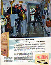 1942 PLASKON RESIN GLUE & HOWELL ELECTRIC MOTORS ADS-