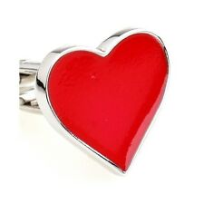 Red Hearts Valentines Love Men Gift Wedding Cufflinks