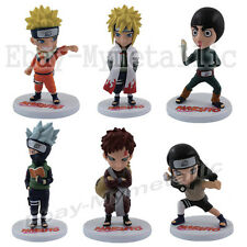 NARUTO Uzumaki Minato Kakashi Rock Lee Gaara With Base PVC Figure Set Of 6pcs