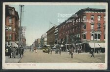 MA Worcester ROTOGRAVURE 1906 MAIN STREET Trolley WAGONS by Detroit Pub 9711