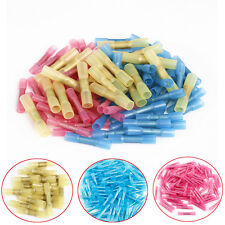 100Pcs Mixed Heat Shrink Butt Electrical Crimp Terminals Wire Cable Connectors