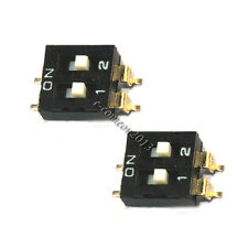 3PCS SMD Toggle Switch 2P 2.54mm Pitch DIP Switch Coding Switch high quatity
