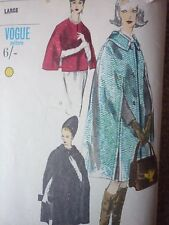 UNCUT VINTAGE 1960'S VOGUE CAPE SEWING DRESSMAKING PATTERN