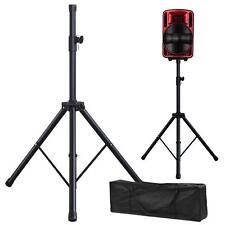 Pair Adjustable Tripod DJ PA Speaker Stands 110lb Load Audio Mount+Carry Bag