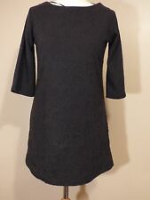 ATMOSPHERE LADIES SIZE 8 LONGLINE TUNIC DRESS BLACK TOP A2